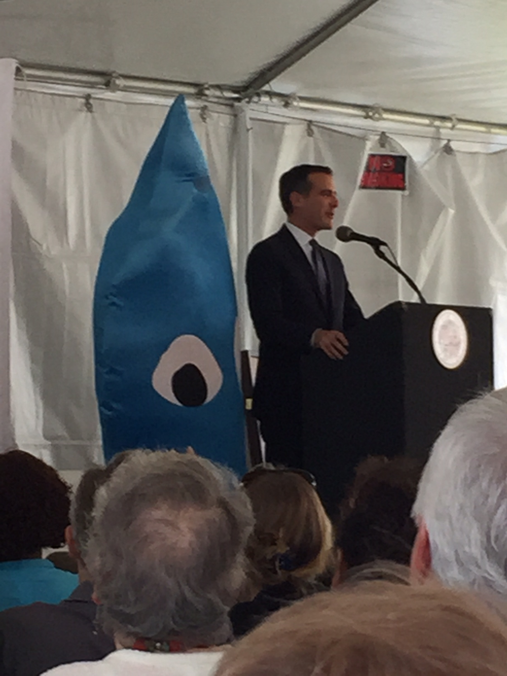 Eric Garcetti Save the Drop California Drought Los Angeles Engage LA