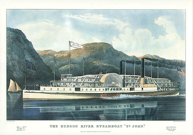 Hudson River Steamboat ST. JOHN -Currier and Ives Print.jpg