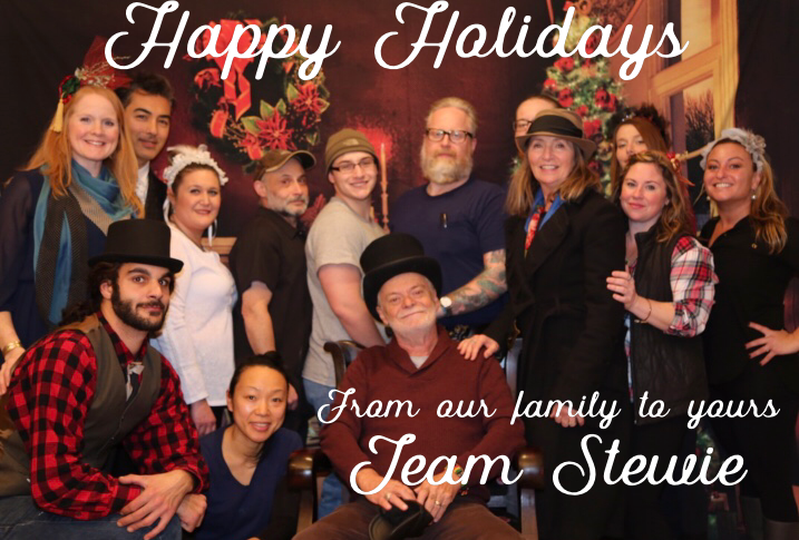 Team Stewie holiday card, courtesy of the Victorian Photo Studio