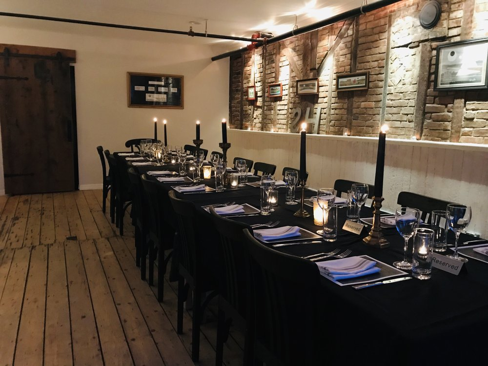 Having a dinner party? small event? intimate gathering? Check out the availability of The Captains Table.
