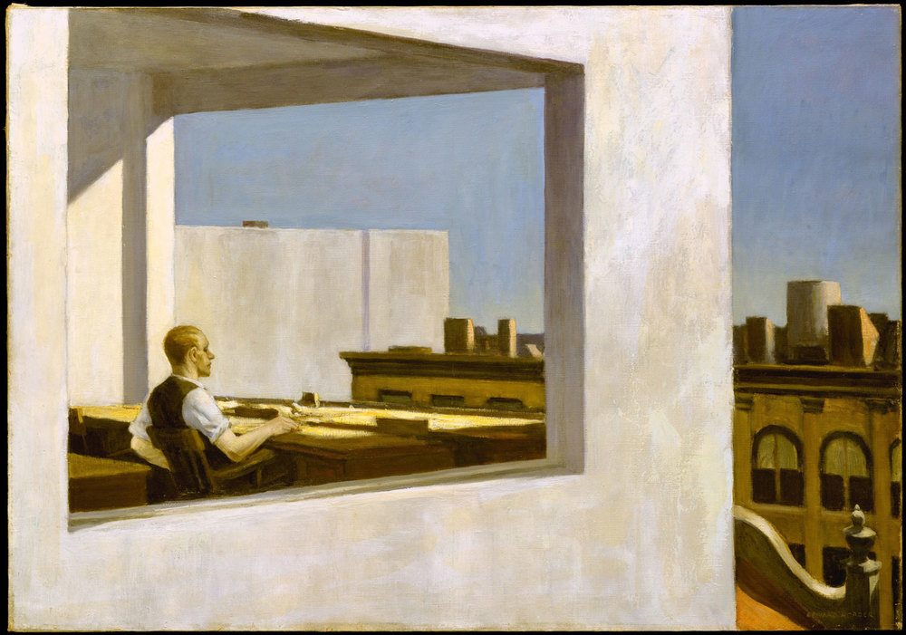 Office in a Small City  by Edward Hopper (1953)