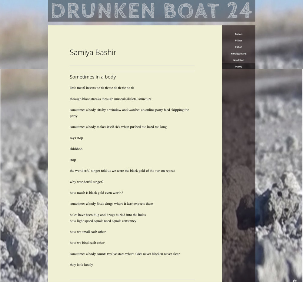 Drunken Boat 24, Winter 2016/17