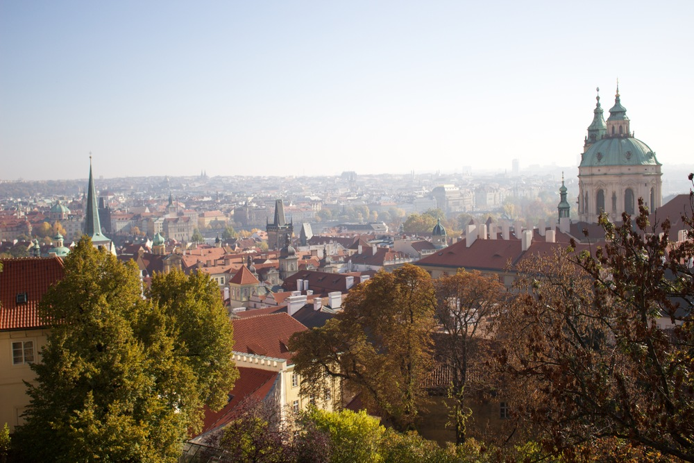 The view from the Prague Castle.