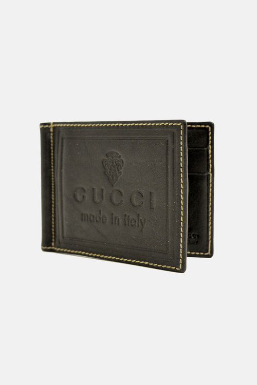 3cd988e8b397 Gucci 'Made in Italy' Embossed Money Clip Wallet — Blogger Armoire