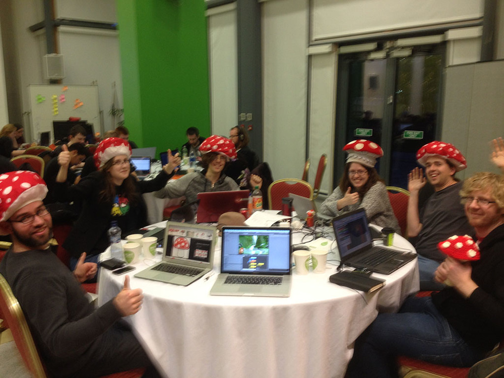 Good times with Fungus at the Global Gamecraft game jam