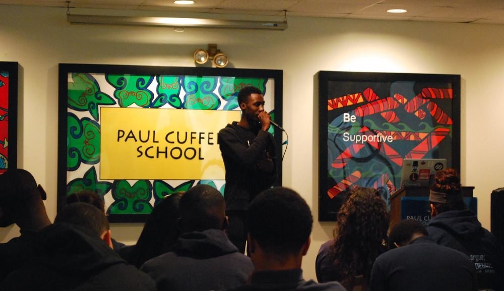 @DAP_TheContract    speaks on HipHop music, critical race engagement, and empowerment to    @PaulCuffee   .