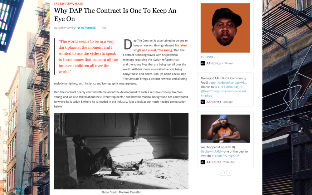 READ FULL INTERVIEW HERE --}  http://aboveaveragehiphop.com/why-dap-the-contract-is-one-to-keep-an-eye-on/