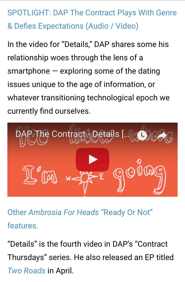 READ FULL ARTICLE HERE --} http://ambrosiaforheads.com/2017/06/ready-or-not-dap-the-contract-details-video/