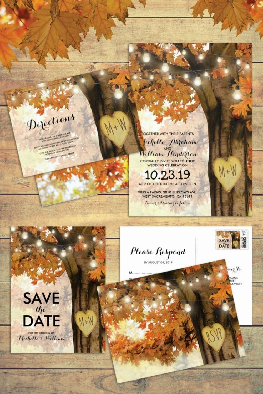 Fall Tree with Glowing Lights Invitation.jpg