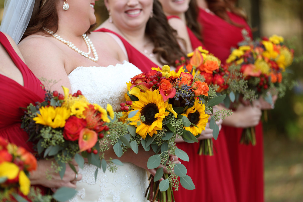 Bridesmaids with Sunflower Bouquets.jpg