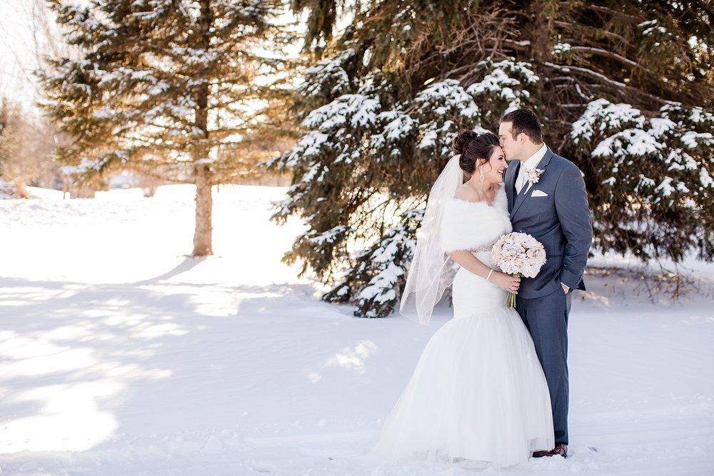 Outdoor Wedding Forehead Kiss.jpg