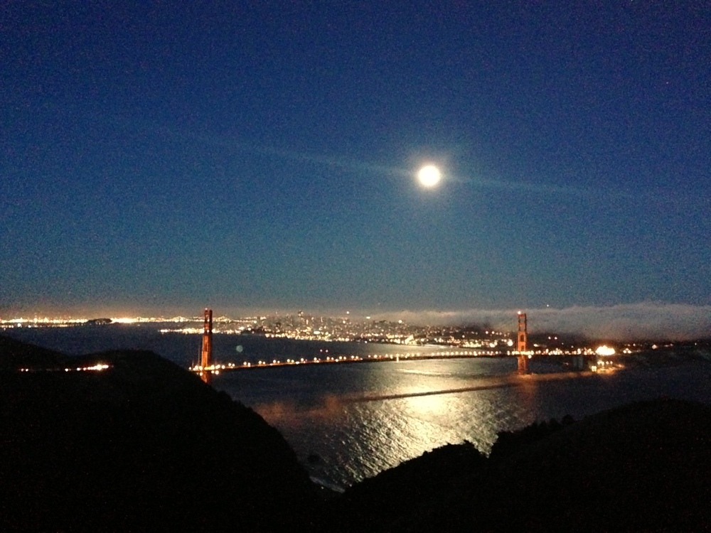 Later view of the Super Moon