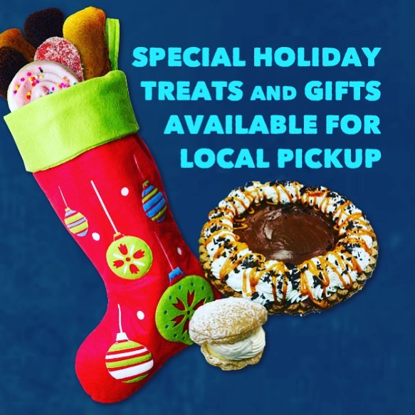 5 days left to order your holiday treats! Pies, eclairs, cream puffs, cookie dough, and Festivus treat boxes! Don't forget about our holiday pop up at @squarekitchenslc on the 22nd from 5-8PM. ***link to order in profile***