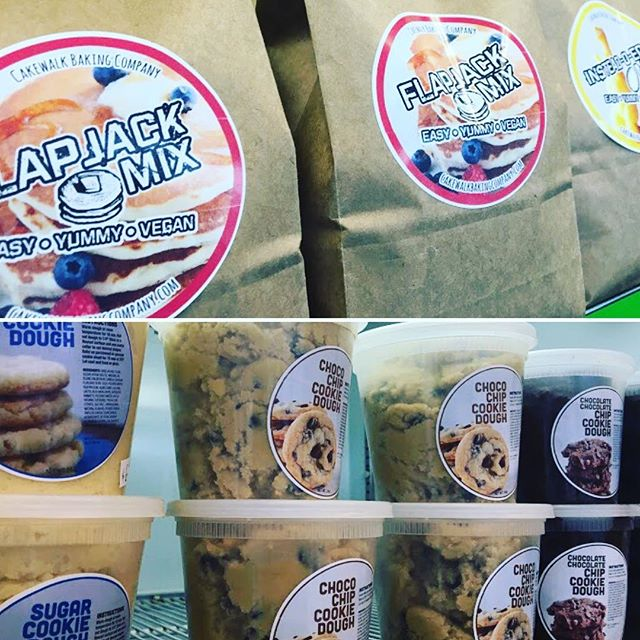 Mixes and cookie dough will be available at our pop up this Saturday. @squarekitchenslc from 5PM-8PM there will be food, craft, and other dessert vendors as well (all vegan). stop by for some last minute gifts.