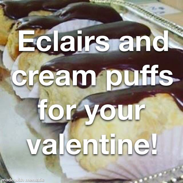 Place your order today for cream puffs, eclairs, or special edition Dillos (Dillos can be shipped). Order right on our website (link in profile).