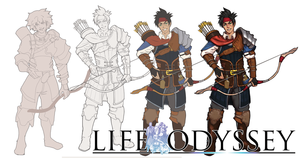 character design male archer life odyssey