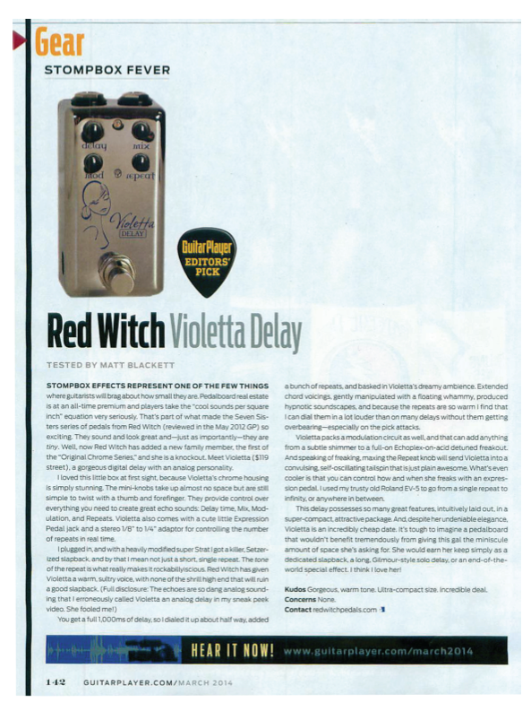 "Guitar Player Editor's Pick - March 2014 ""Gorgeous, warm tone. Ultra-compact size. incredible deal..."" > Download here"