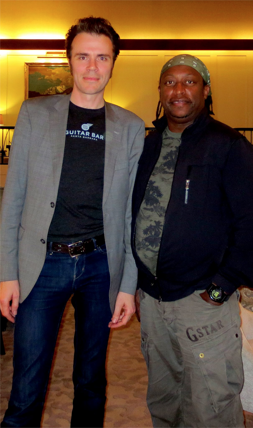 Ben Fulton with Darryl Jones during the 2015 Rolling Stones tour of New Zealand. To read more about Darryl's amazing musical history, click here.