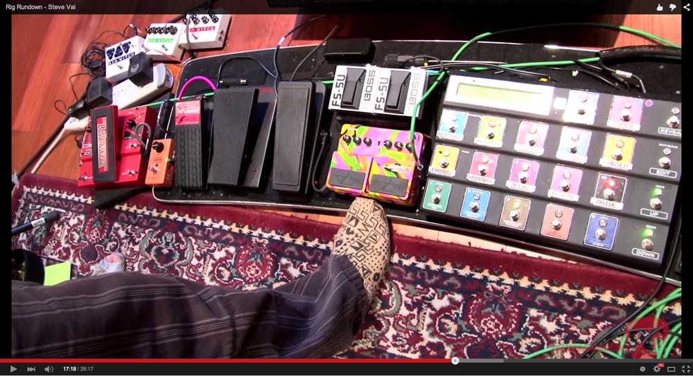 Steve Vai's pedal board