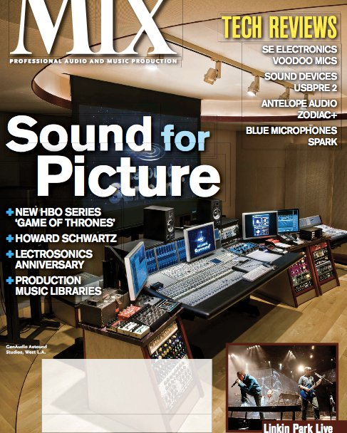Mix Magazine features a pic of GenAudio's Astound studios in Los Angeles. Click to enlarge and check out the left hand side. A Red Witch Pentavocal Tremolo, Fuzz God II and Chrome Empress Chorus!