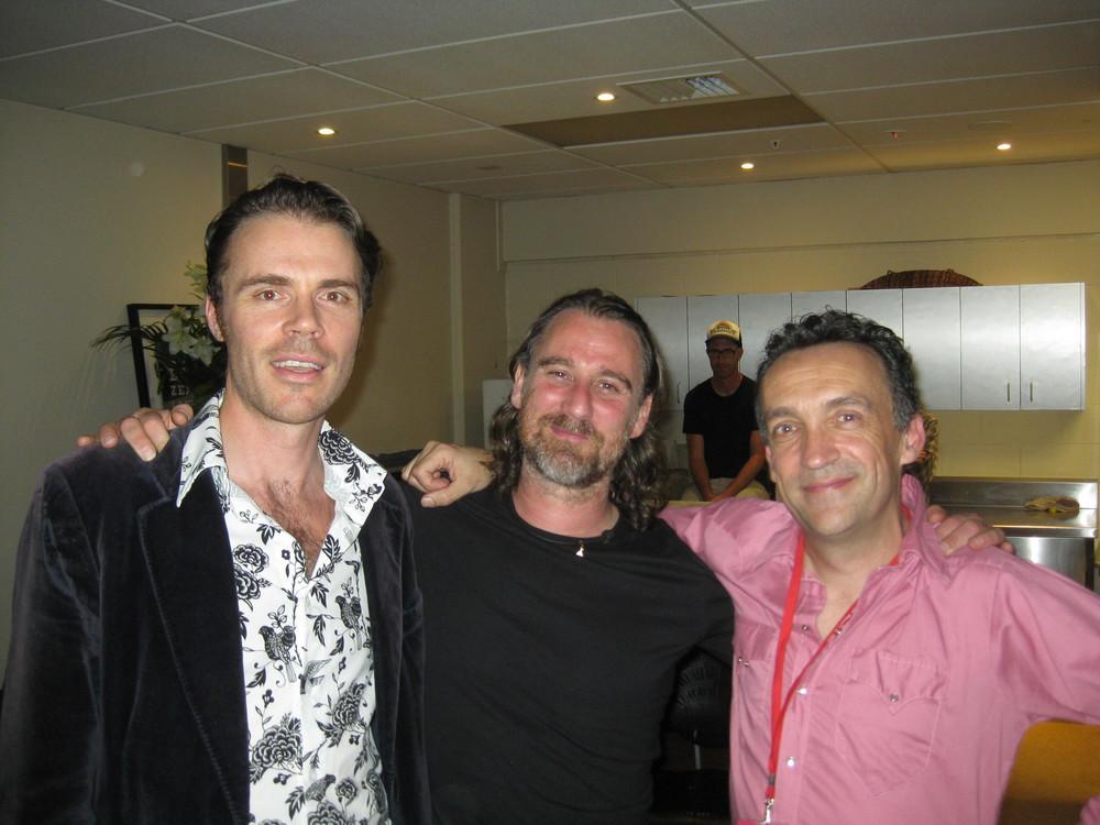 Ben with Justin Adams & Skin - Guitarists for Robert Plant