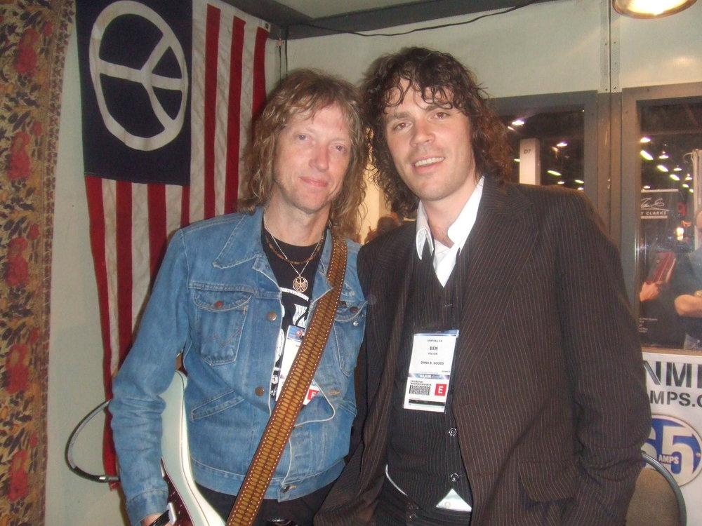 Ben with Peter Stroud - Sheryl Crowe
