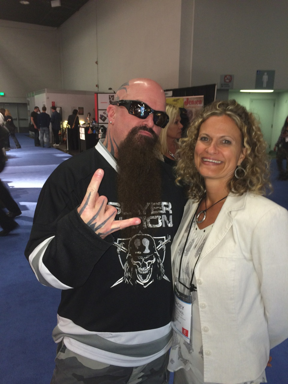 Tracey with Slayer Guitarist Kerry King at NAMM 2014