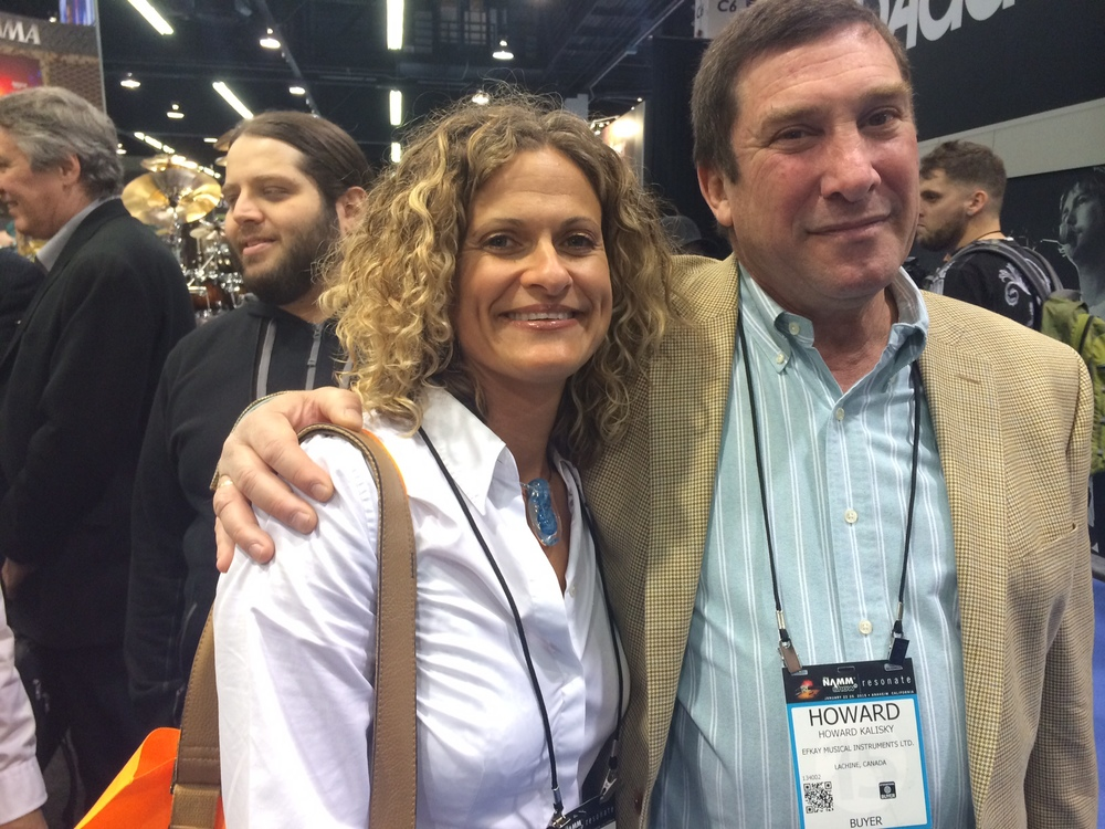Tracey with new Canadian distributor Howard Kalisky, President and Owner of EFKAY.
