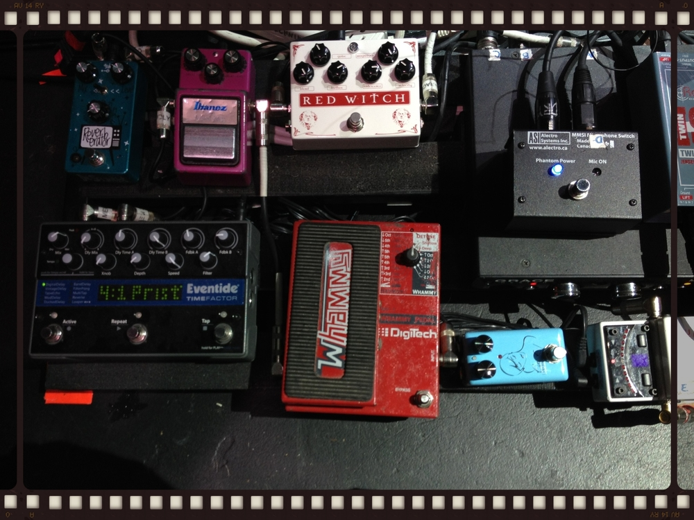 CJ from Bon Iver - Pedal Board