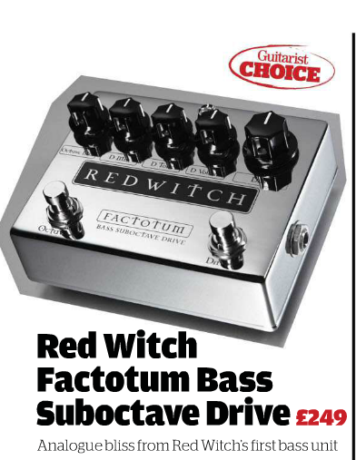 Guitarist Issue June 2015 Much loved by guitarists, Red Witch has at last released an effects pedal aimed at bass players. Continuing the company's blend of art and technology into its products . . . .