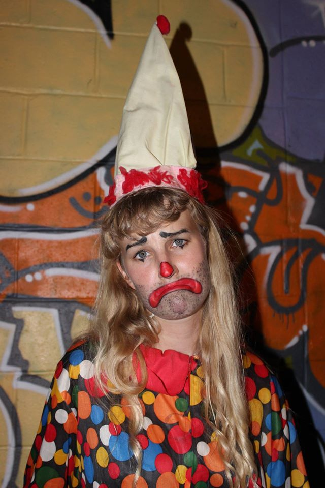 Down and out clown  photo by Cotey Pope  ongoing