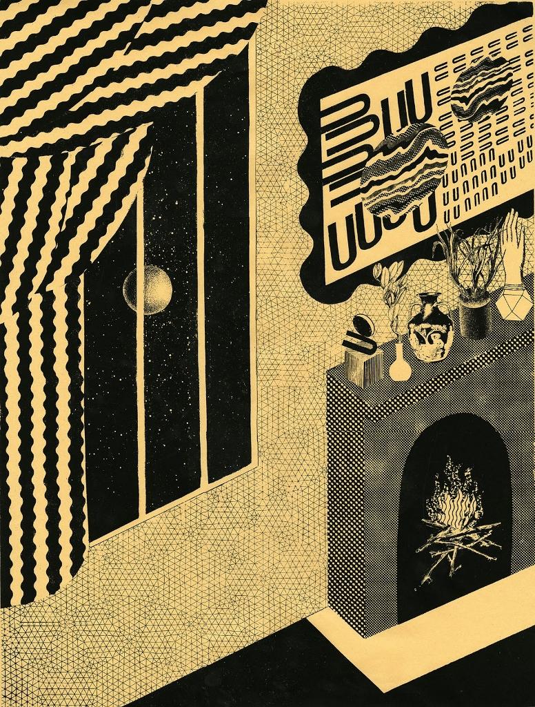"""Goodnight Moon  Screenprint  18"""" x 24""""  2012"""