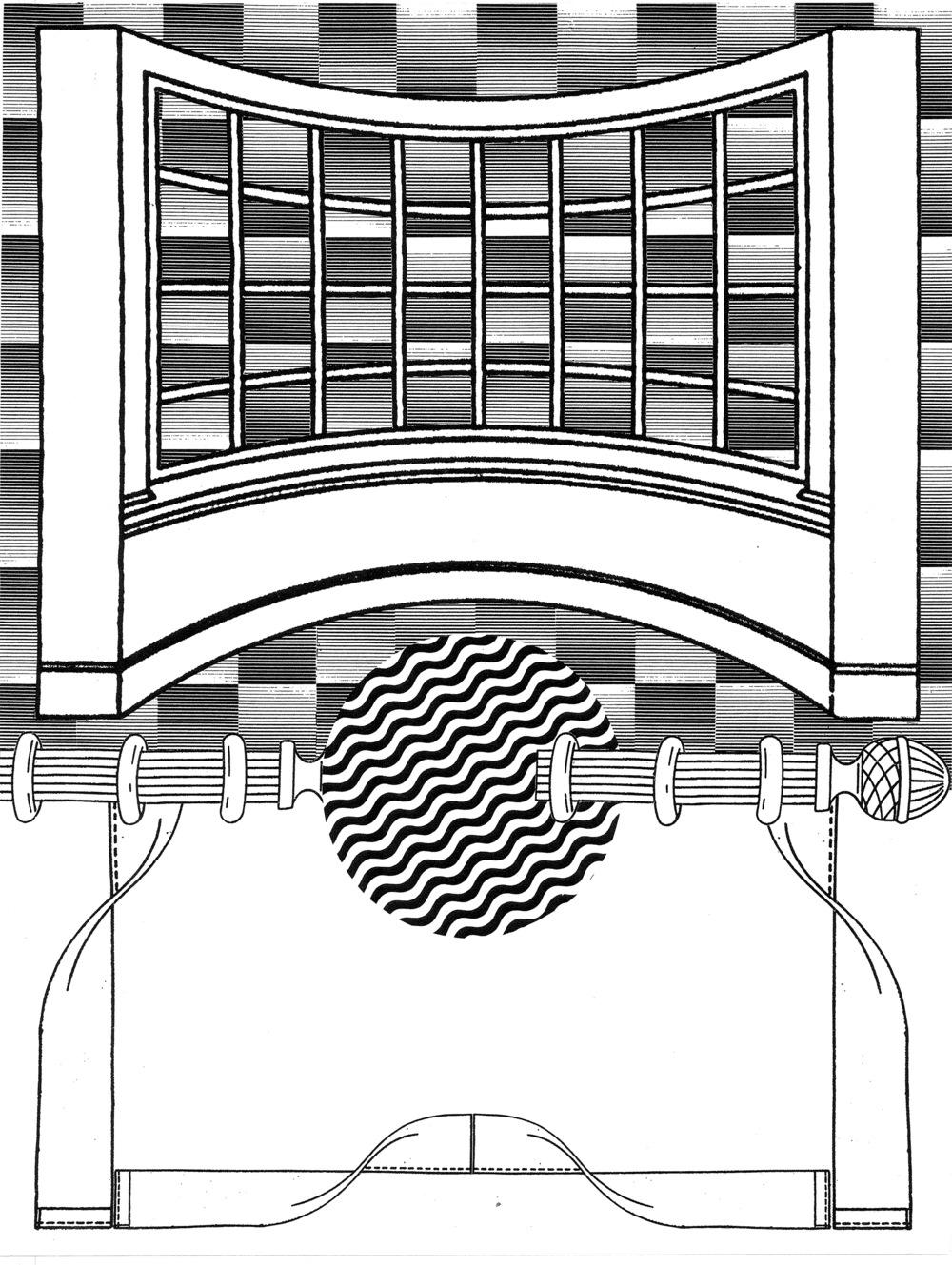 "Double Double Land  Xerox collage  18"" x 24""  2013"