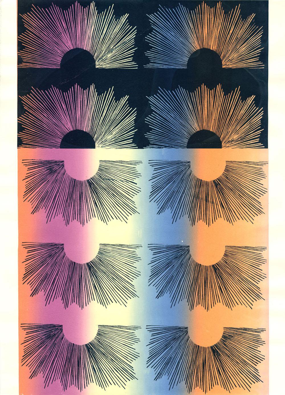 "Tangy Zangy  Screenprint  18"" x 24""  2012"