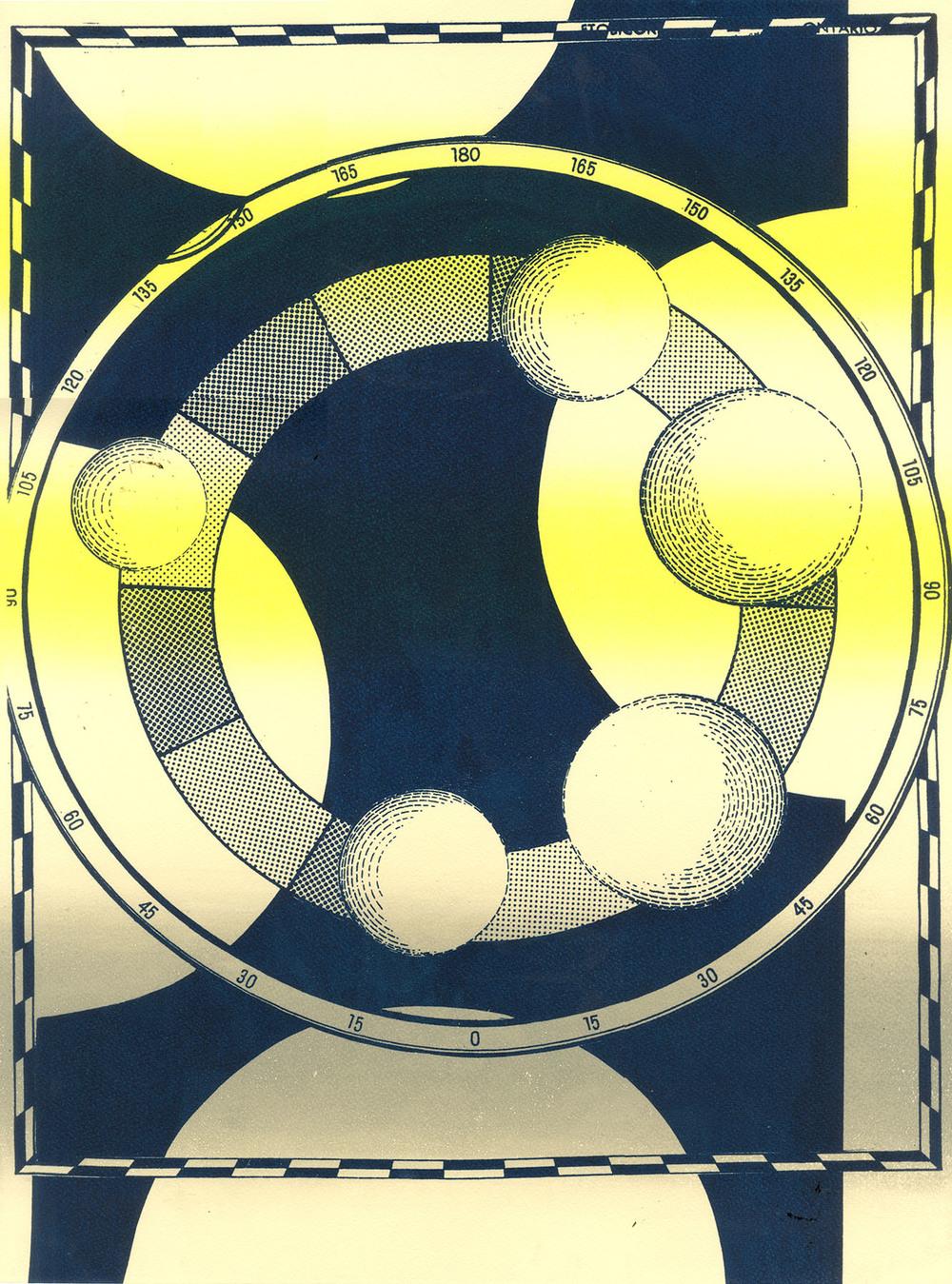 """Wheel of Fortuna  Screenprint  18"""" x 24""""  2013"""