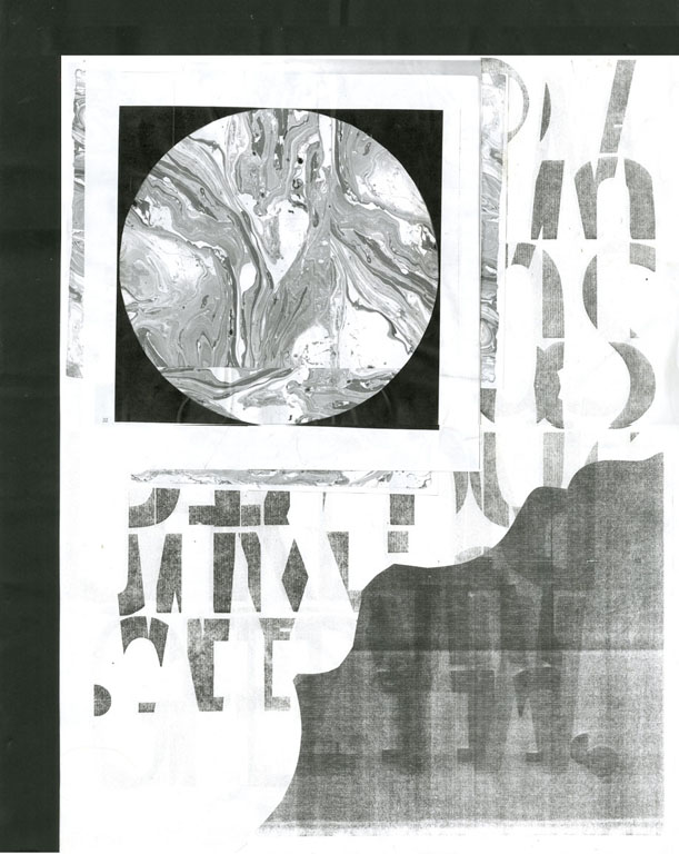 """New Lands  Xerox collage  18"""" x 24""""  2011"""