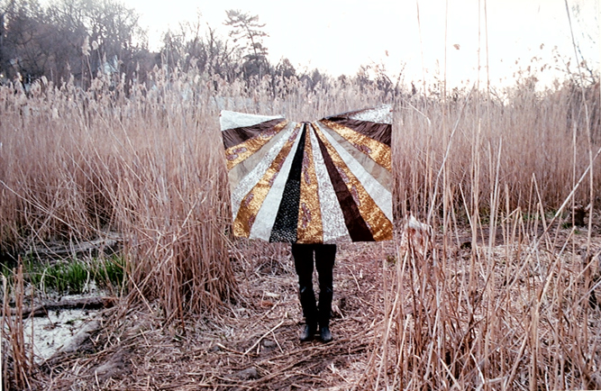 Sequined cape for  Carl Didur   Silver, gold, black and sequined fabric  approx. 2ft x 4ft  2012