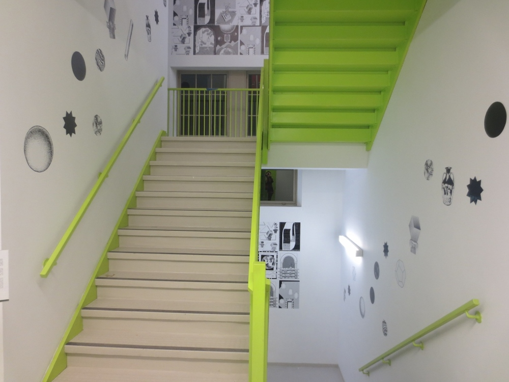 Am I in my own house at all Mister?  Vinyl stairwell installation at Artscape Youngplace