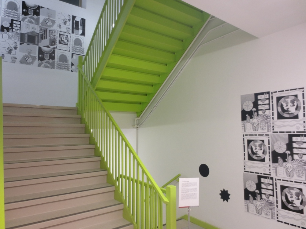 Am I in my own house at all Mister?  Vinyl three story stairwell installation  Artscape Youngplace  September 2014- February 2015