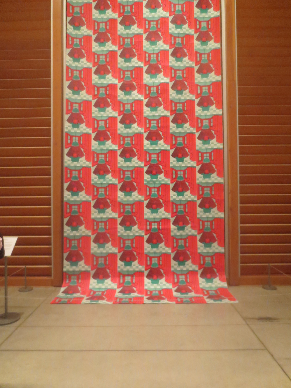 A stone is nobody's  Screenprinted banner  9ft x 22ft  Art Gallery of Ontario First Thursday  March 2014