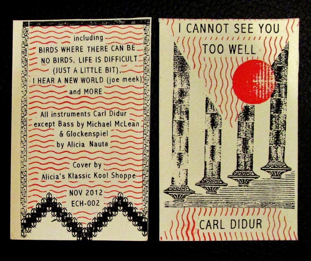 tape design and printing  Carl Didur- I cannot see you too well  Screenprinted tape insert, edition of 100  2012