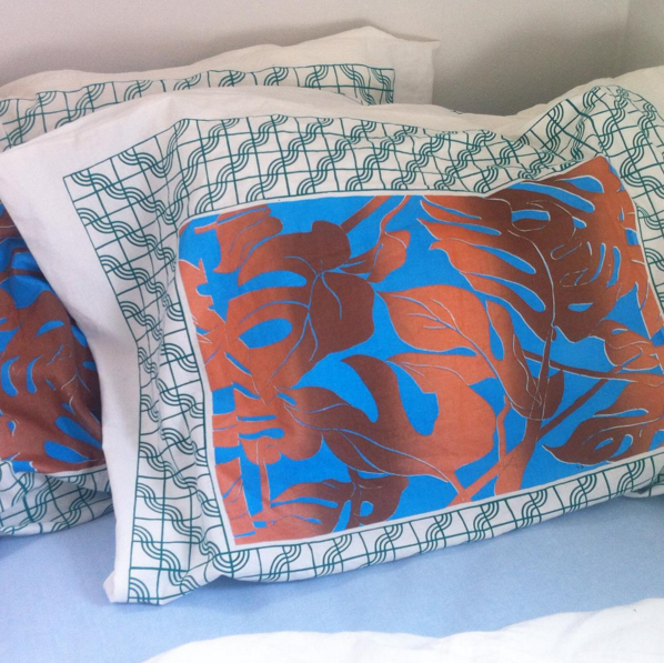 Grows best in high light  Screenprinted pillowcase sets  open edition