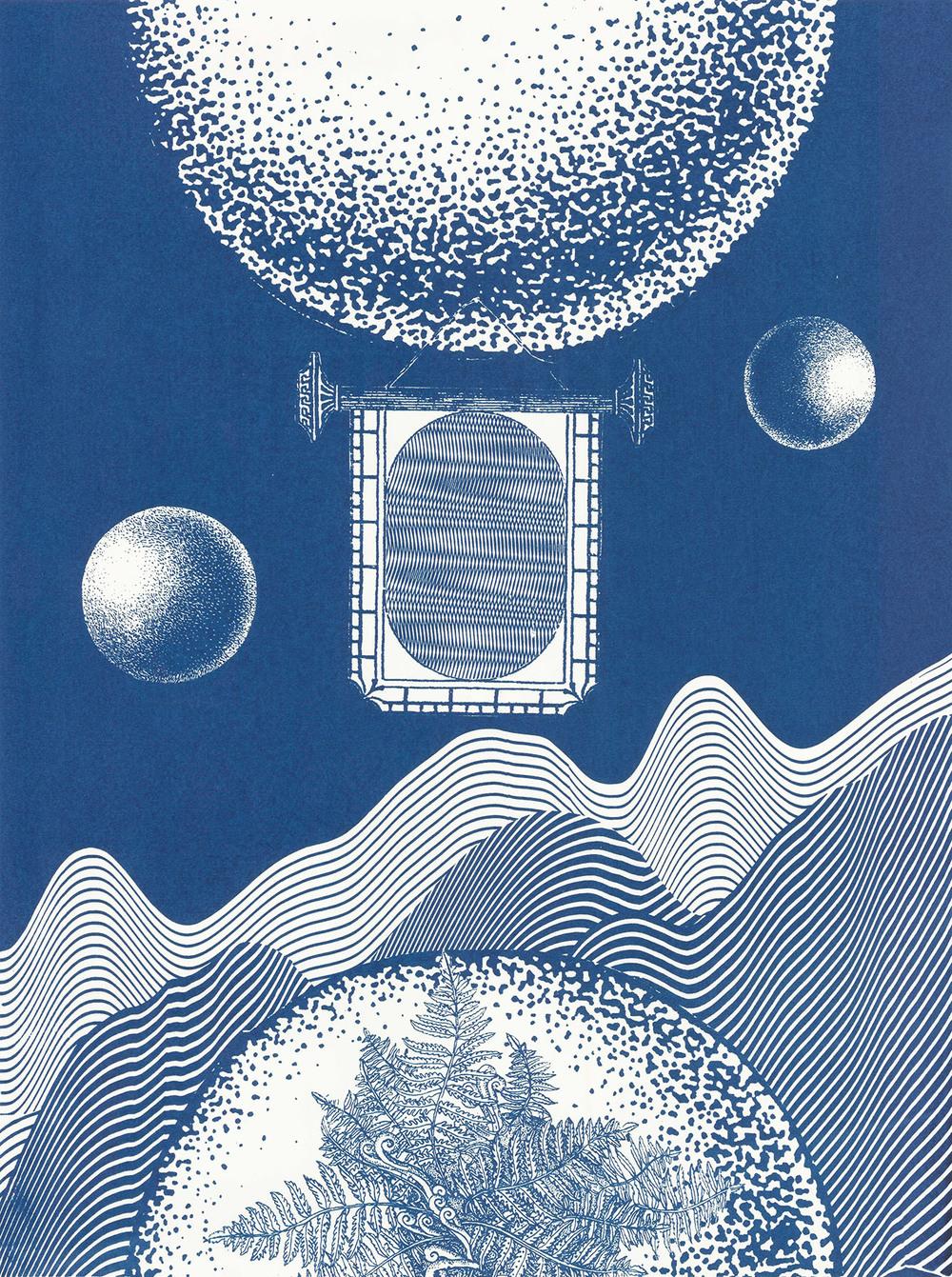 "Precarious Planet  Screenprint  18"" x 24""  2015"