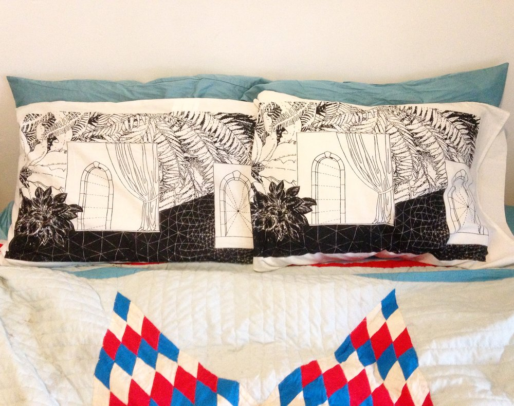 Winter solstice  Screenprinted pillowcases  Open edition  2016