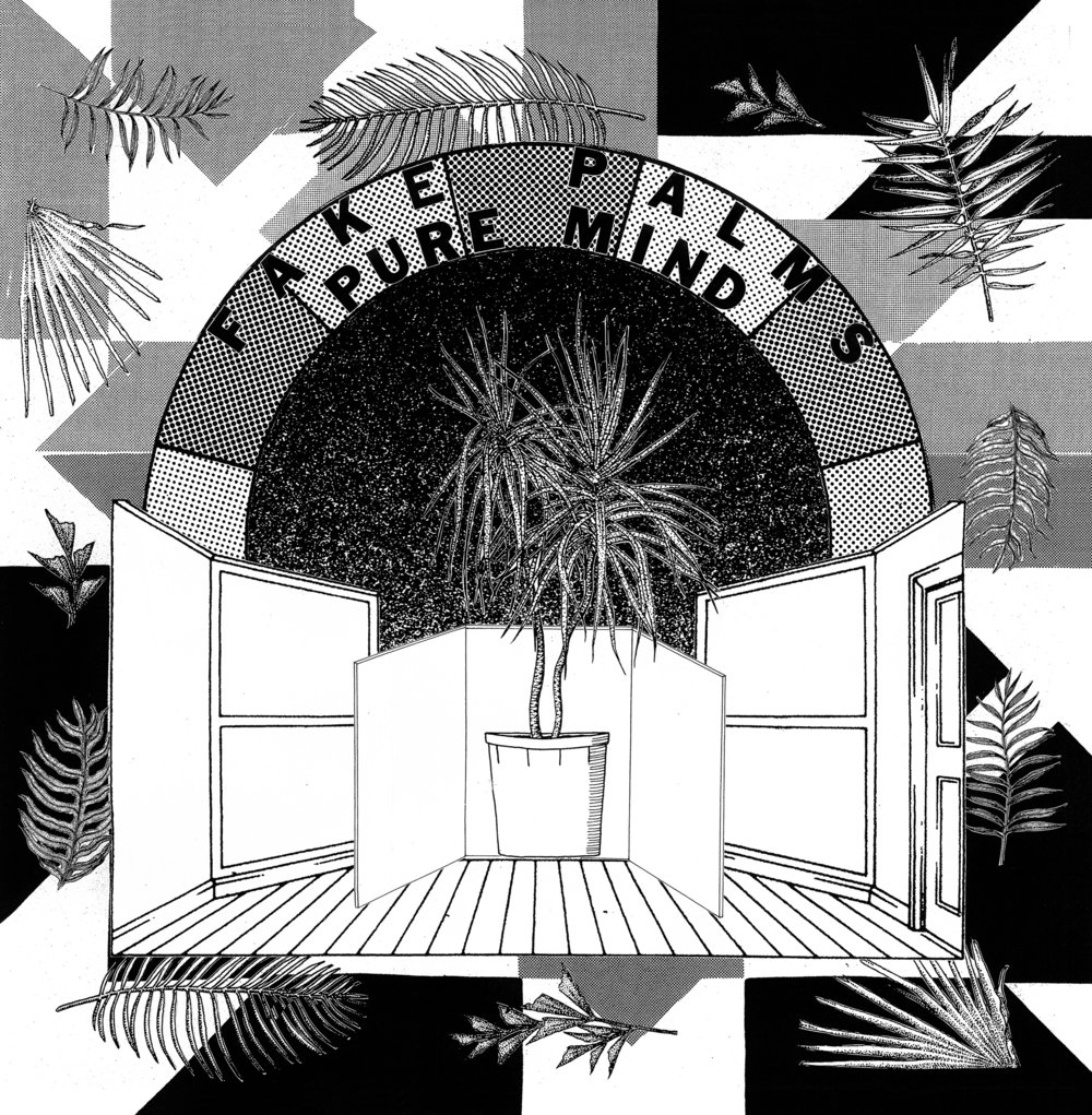 "front cover  Fake Palms, Pure Mind 12"" LP  2017"