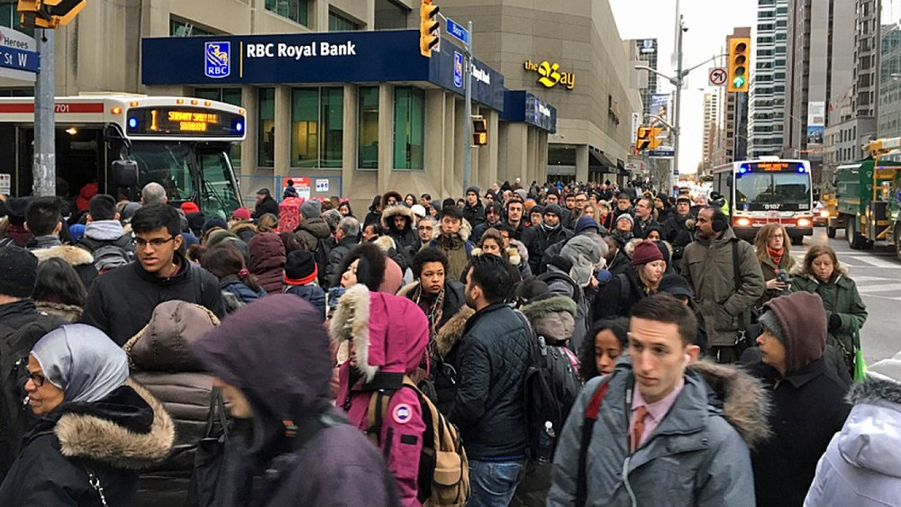 Transit massacre due to shutdown of subways.