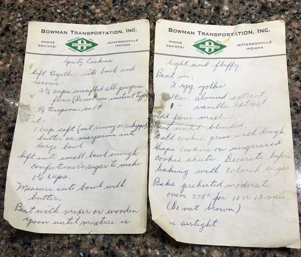 The original recipe written by Granny. It has been used every year since 1977 during the holidays.