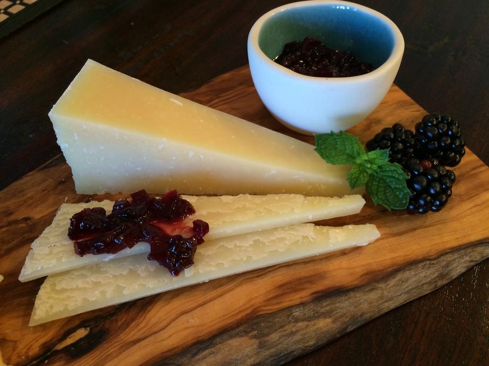 Blackberry Chutney on Piave Vecchio Cheese