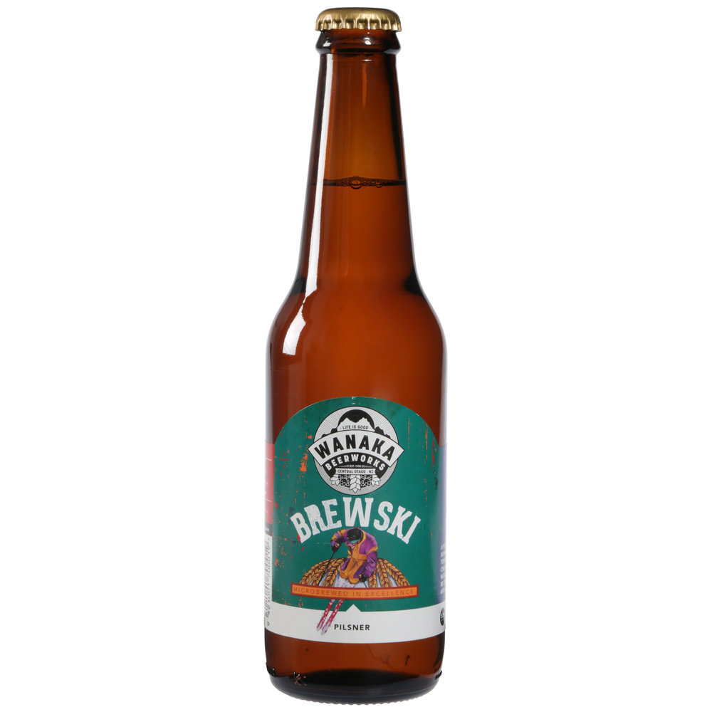 Brewski Bohemian Style Pilsner (5%) Crisp, floral hop aroma with a rich malty sweetness that is beautifully balanced by its spicy hop bitterness. Brewski is very popular with the truly discerning beer drinker, its saaz hop gives it a very distinct flavour.