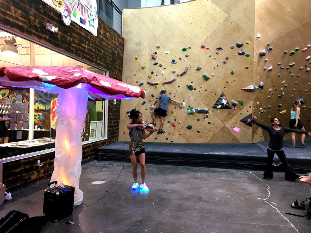 At a Brooklyn Boulders Somerville Artistry event (Photo by Carly Nix)